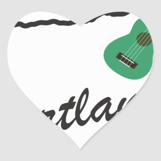 Portland Ukulele Wednesdays Heart Sticker