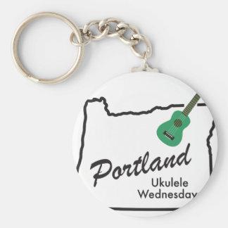 Portland Ukulele Wednesdays Keychain