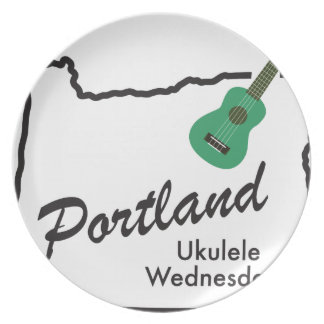 Portland Ukulele Wednesdays Plate