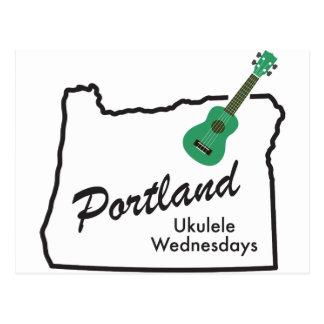 Portland Ukulele Wednesdays Postcard