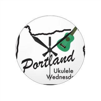 Portland Ukulele Wednesdays Round Clock
