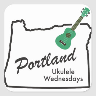 Portland Ukulele Wednesdays Square Sticker
