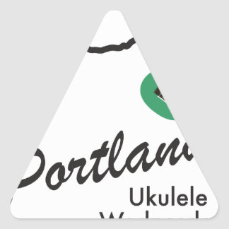 Portland Ukulele Wednesdays Triangle Sticker