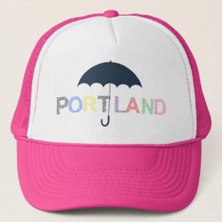 Portland Weather Pink Baseball Cap Trucker Hat