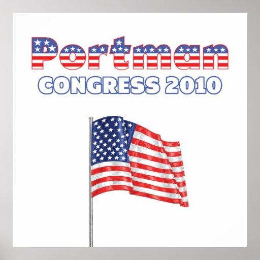 Portman Patriotic American Flag 2010 Elections Poster