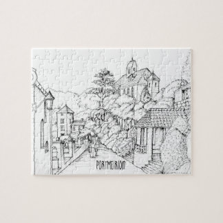 Portmeirion North Wales Pen and Ink Sketch Jigsaw Puzzle