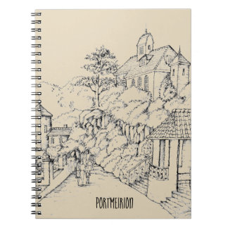 Portmeirion North Wales Pen and Ink Sketch Notebooks