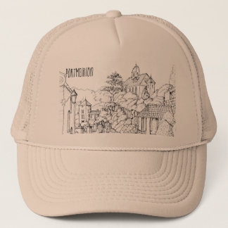 Portmeirion North Wales Pen and Ink Sketch Trucker Hat