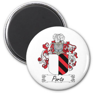 Porto Family Crest 2 Inch Round Magnet