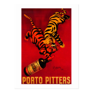 Porto Pitters Vintage PosterEurope Postcard