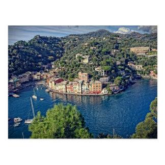 Portofino, Italia from Above Postcard