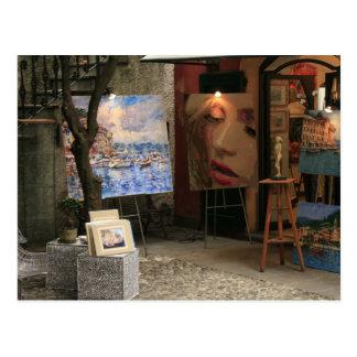 Portofino Italy store front Postcard