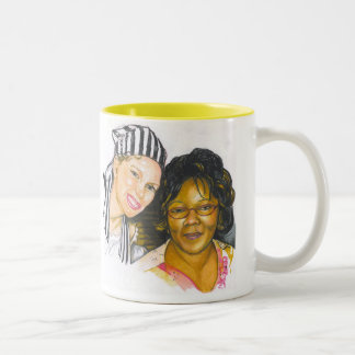 PORTRAIT#1 Two-Tone COFFEE MUG
