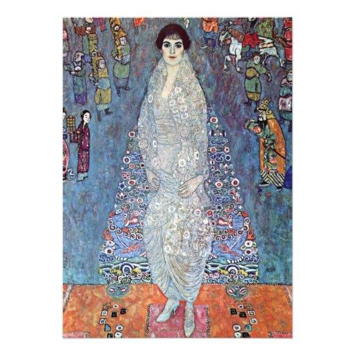 Portrait Baroness Elisabeth Bacchofen Echt, Klimt Personalized Invitation