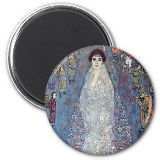 Portrait Baroness Elisabeth Bacchofen Echt, Klimt 2 Inch Round Magnet