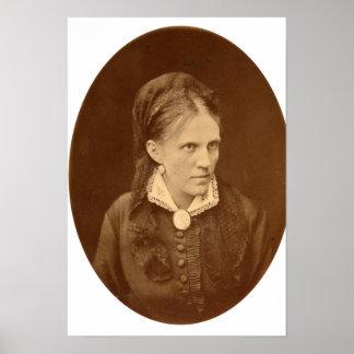 Portrait bust of Anna G. Dostyevskaya Poster