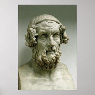 Portrait bust of Homer Poster