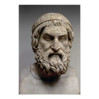 Portrait bust of Sophocles Poster