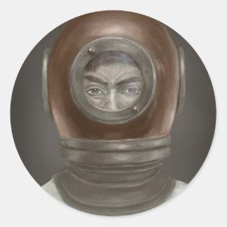 portrait classic round sticker