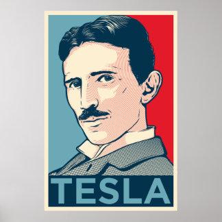 Portrait d espoir de Nikola Tesla Poster