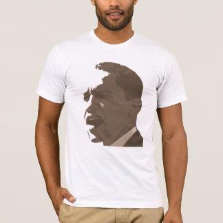 Portrait de Barack Obama dans la chemise de ton de T-shirt