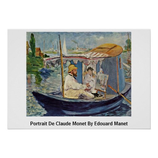 Portrait De Claude Monet By Edouard Manet Print
