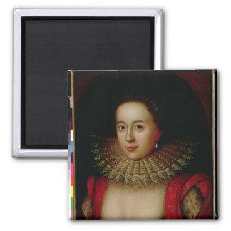 Portrait de comtesse de Frances Howard de Somerset Magnet Carré