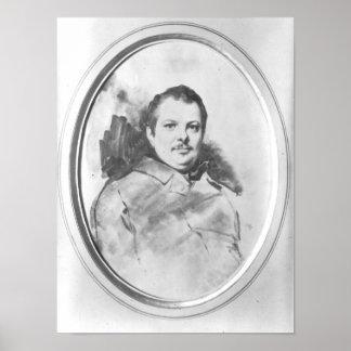 Portrait de Honore de Balzac c.1820 Poster