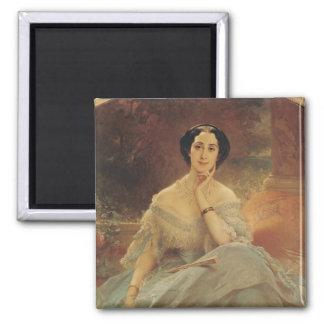 Portrait de la comtesse de Hallez-Claparede Magnet Carré