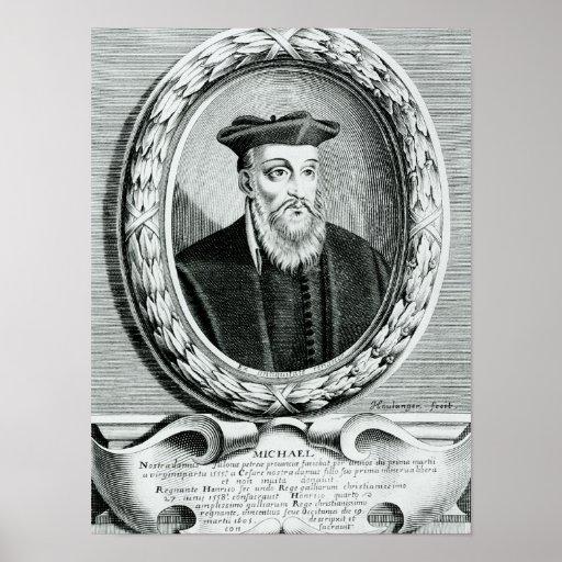 Portrait de Michel de Nostredame Posters
