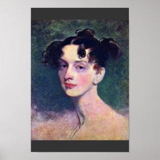 Portrait de princesse Lieven By monsieur Thomas Posters