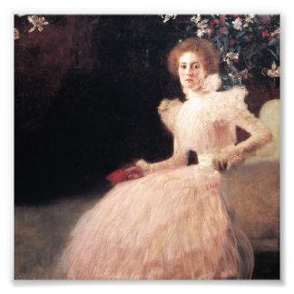 Portrait de Sonja Knips ; Peinture de Gustav Klimt Photos D'art