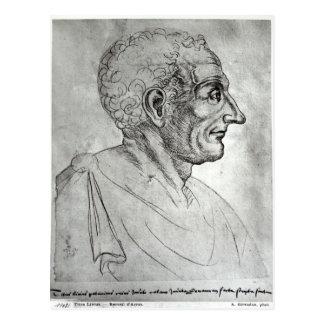 Portrait de Titus Livius connu sous le nom de Livy Carte Postale