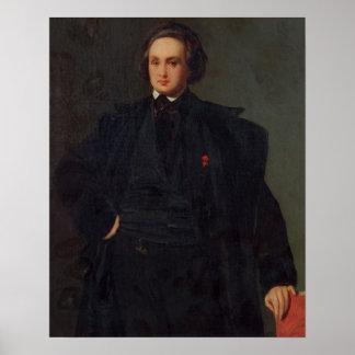 Portrait de Victor Hugo, c.1833 Posters