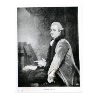 Portrait d'Edward Gibbon Carte Postale
