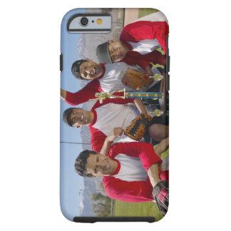 Portrait des hommes dans une équipe de baseball de coque iPhone 6 tough