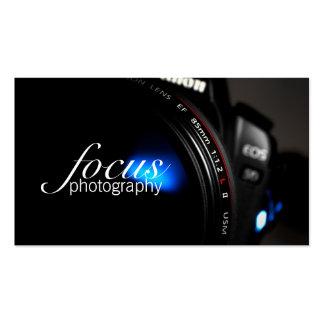 Portrait d'objectif de caméra de photographie de carte de visite standard