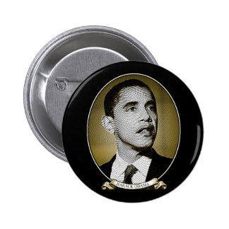 Portrait du dollar de Barack Obama Macaron Rond 5 Cm