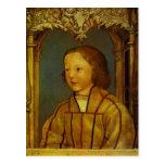 Portrait d'un garçon avec les cheveux blonds par H Carte Postale