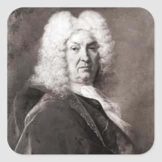 Portrait d'un homme autocollants carrés