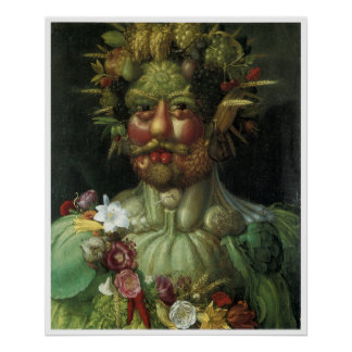 Portrait from Vegetation Giuseppe Arcimboldo Poster