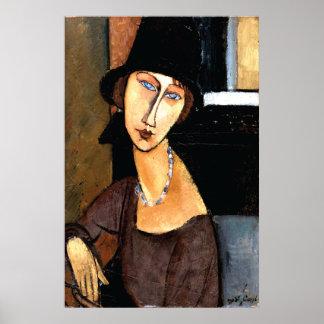 Portrait Jeanne Hébuterne Au Chapeau Poster