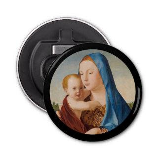 Portrait Mary and Baby Jesus Bottle Opener