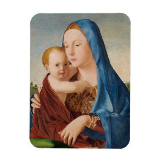 Portrait Mary and Baby Jesus Rectangular Photo Magnet