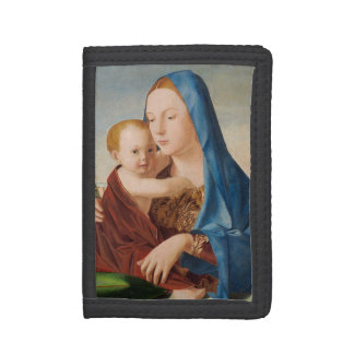 Portrait Mary and Baby Jesus Trifold Wallets