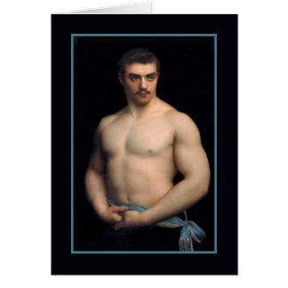 Portrait Maurice Deriaz by Courtois Card