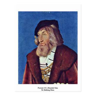 Portrait Of A Bearded Man By Baldung Hans Postcard