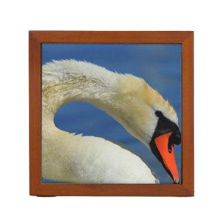 Portrait of a beautiful swan desk organizer