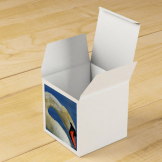 Portrait of a beautiful swan favor box