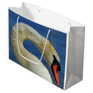 Portrait of a beautiful swan large gift bag